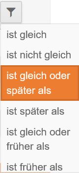 Filter Datum