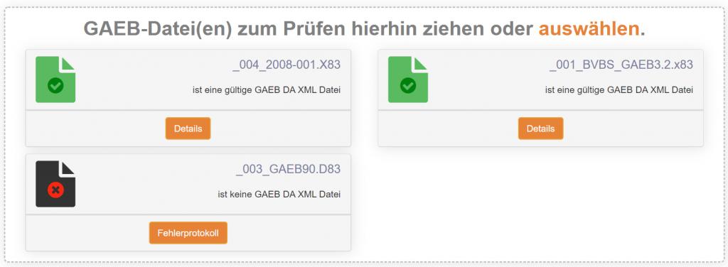 GAEB-Datei prüfen